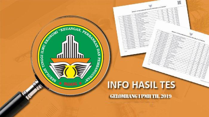 Hasil Kelulusan Ujian PMB th.2019 Gelombang I