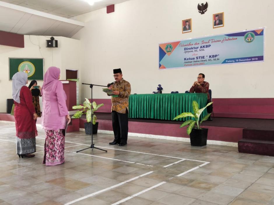 Pelantikan Direktur AKBP & Ketua STIE
