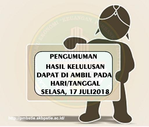 INFO KELULUSAN CALON MAHASISWA BARU GELOMBANG PERTAMA 2018